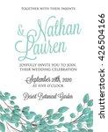 wedding invitation  thank you...   Shutterstock .eps vector #426504166