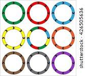 circle  ring arrow black. set... | Shutterstock .eps vector #426505636