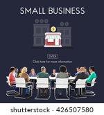 small business niche market... | Shutterstock . vector #426507580