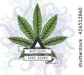 marijuana leaf. hand drawn... | Shutterstock .eps vector #426512860