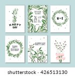 set invitation with green... | Shutterstock .eps vector #426513130