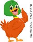 cute duck cartoon give thumb up   Shutterstock .eps vector #426514570