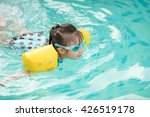 toddler girl playing in outdoor ... | Shutterstock . vector #426519178