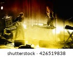 Small photo of BARCELONA - NOV 20: Beach House (dream pop band from Baltimore) in concert at Apolo stage on November 20, 2015 in Barcelona, Spain.