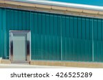 wall sheets of green glass with ... | Shutterstock . vector #426525289