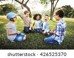 kids fun playful happiness... | Shutterstock . vector #426525370