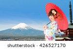 asian woman wearing traditional ...   Shutterstock . vector #426527170