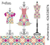 vector fashion collection with... | Shutterstock .eps vector #426528076