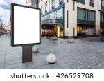 blank mock up of vertical...   Shutterstock . vector #426529708