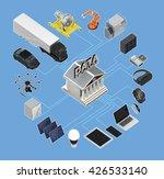 data exchange marketplace... | Shutterstock . vector #426533140