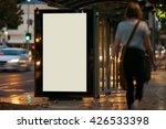 blank outdoor bus advertising... | Shutterstock . vector #426533398