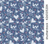 love. hearts seamless pattern.... | Shutterstock . vector #426535204