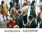Business People Meeting Eating...