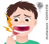 stomatitis  mouth ulcer ...   Shutterstock .eps vector #426541558