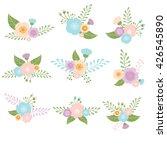 set of flowers | Shutterstock .eps vector #426545890