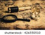 old vintage compass  telescope... | Shutterstock . vector #426550510