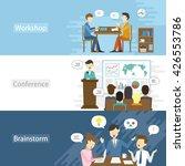 business flat design... | Shutterstock .eps vector #426553786