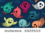 seamless pattern with various...   Shutterstock .eps vector #426555214