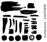 set of black paint  ink brush... | Shutterstock .eps vector #426555850