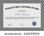 world's best mom award. complex ...   Shutterstock .eps vector #426559024