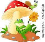 cute frog and snail cartoon... | Shutterstock .eps vector #426560068