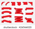 ribbon banner set.red ribbons... | Shutterstock .eps vector #426566020
