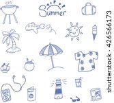doodle summer and travel... | Shutterstock .eps vector #426566173