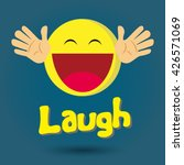 laugh emoticon. isolated vector ... | Shutterstock .eps vector #426571069