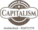 capitalism retro style wood... | Shutterstock .eps vector #426571774