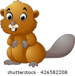 illustration of a beaver on a... | Shutterstock . vector #426582208