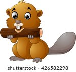 illustration of a beaver on a... | Shutterstock .eps vector #426582298