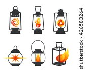 set of isolated vintage lamps... | Shutterstock .eps vector #426583264