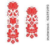 kalocsai red embroidery  ... | Shutterstock .eps vector #426591493