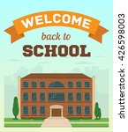 high school building vector... | Shutterstock .eps vector #426598003