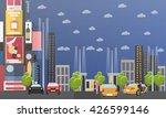 taxi service company concept... | Shutterstock .eps vector #426599146