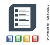note list icon isolated on...