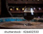 snifter glass full of dark ale... | Shutterstock . vector #426602533