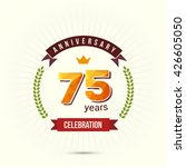 75 years anniversary with low... | Shutterstock .eps vector #426605050