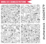 set seamless patterns  hand... | Shutterstock .eps vector #426609379