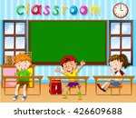 three students in the classroom ... | Shutterstock .eps vector #426609688