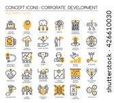 corporate development   thin... | Shutterstock .eps vector #426610030