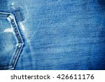 Texture Of Denim And Stitch Fo...