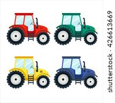 colorful tractors on white... | Shutterstock .eps vector #426613669