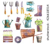 watercolor gardening set... | Shutterstock . vector #426618514