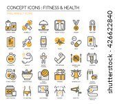 fitness   health   thin line... | Shutterstock .eps vector #426622840