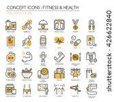fitness   health   thin line... | Shutterstock .eps vector #426622840