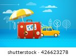 travel bag vector illustration. ... | Shutterstock .eps vector #426623278