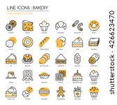 bakery    thin line and pixel... | Shutterstock .eps vector #426623470