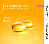 gold oil collagen capsule ... | Shutterstock .eps vector #426625933