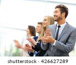 satisfied proud business team... | Shutterstock . vector #426627289